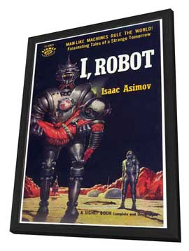 I, Robot - 11 x 17 Retro Book Cover Poster - in Deluxe Wood Frame