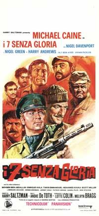 I Sette Senza Gloria - 13 x 28 Movie Poster - Italian Style A