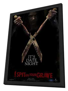 I Spit on Your Grave - 27 x 40 Movie Poster - Style A - in Deluxe Wood Frame