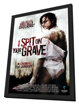 I Spit on Your Grave - 27 x 40 Movie Poster - UK Style A - in Deluxe Wood Frame