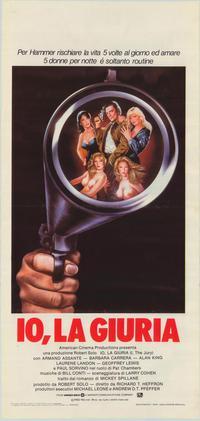 I, the Jury - 39 x 55 Movie Poster - Italian Style A