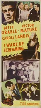 I Wake Up Screaming - 14 x 36 Movie Poster - Insert Style B