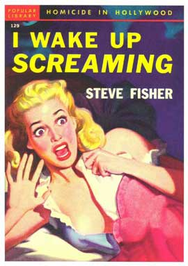 I Wake Up Screaming - 11 x 17 Retro Book Cover Poster