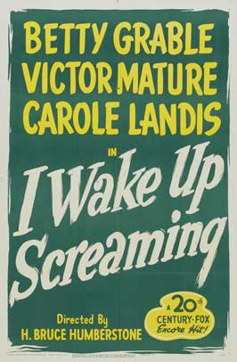 I Wake Up Screaming - 27 x 40 Movie Poster - Style A