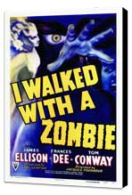 I Walked with a Zombie - 27 x 40 Movie Poster - Style A - Museum Wrapped Canvas