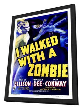 I Walked with a Zombie - 27 x 40 Movie Poster - Style A - in Deluxe Wood Frame