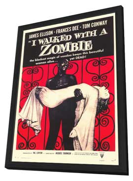 I Walked with a Zombie - 11 x 17 Movie Poster - Style B - in Deluxe Wood Frame