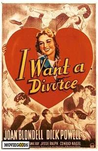 I Want A Divorce - 27 x 40 Movie Poster - Style A