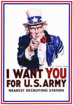 I Want You for U.S. Army - 11 x 17 Movie Poster - Style A