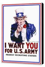 I Want You for U.S. Army - 11 x 17 Movie Poster - Style A - Museum Wrapped Canvas