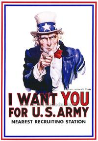 I Want You for U.S. Army - 43 x 62 Movie Poster - Bus Shelter Style A