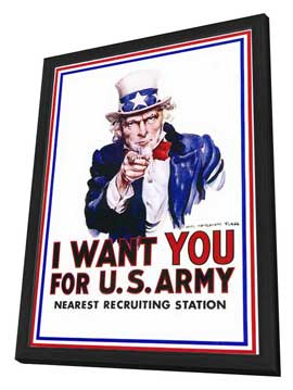 I Want You for U.S. Army - 11 x 17 Movie Poster - Style A - in Deluxe Wood Frame