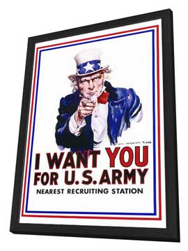 I Want You for U.S. Army - 27 x 40 Movie Poster - Style A - in Deluxe Wood Frame