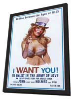 I want you! To enlist in the army of love - 27 x 40 Movie Poster - Style A - in Deluxe Wood Frame