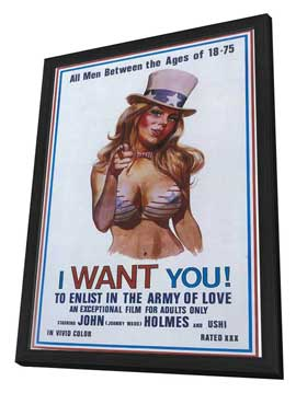 I want you! To enlist in the army of love - 11 x 17 Movie Poster - Style A - in Deluxe Wood Frame