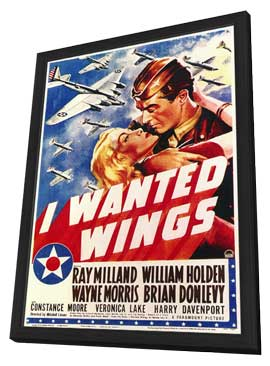 I Wanted Wings - 27 x 40 Movie Poster - Style A - in Deluxe Wood Frame