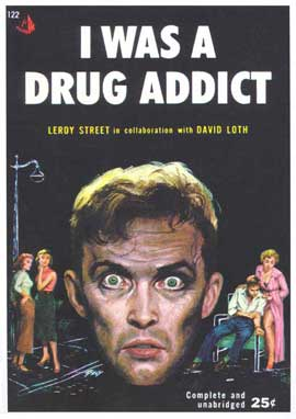 I Was A Drug Addict - 11 x 17 Retro Book Cover Poster