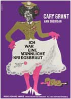 I Was a Male War Bride - 11 x 17 Movie Poster - German Style B