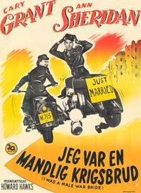 I Was a Male War Bride - 11 x 17 Movie Poster - Danish Style A