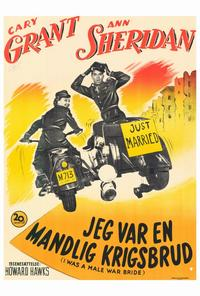 I Was a Male War Bride - 27 x 40 Movie Poster - Danish Style A