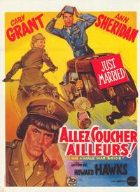 I Was a Male War Bride - 47 x 62 Movie Poster - French Style A