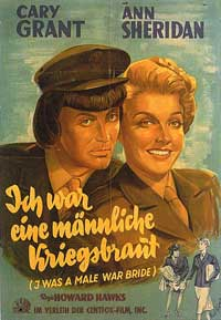 I Was a Male War Bride - 11 x 17 Movie Poster - German Style A