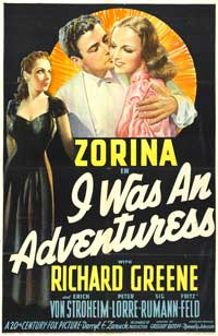 I Was an Adventuress - 27 x 40 Movie Poster - Style A