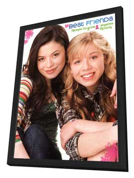 iCarly (TV) - 11 x 17 TV Poster - Style B - in Deluxe Wood Frame