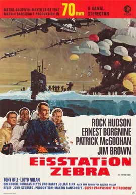 Ice Station Zebra - 11 x 17 Movie Poster - German Style A