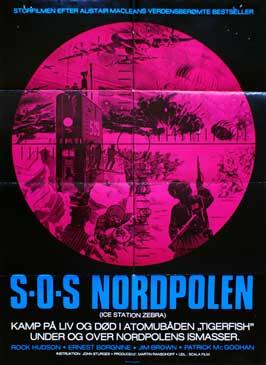 Ice Station Zebra - 11 x 17 Movie Poster - Danish Style A