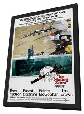 Ice Station Zebra - 27 x 40 Movie Poster - Style C - in Deluxe Wood Frame