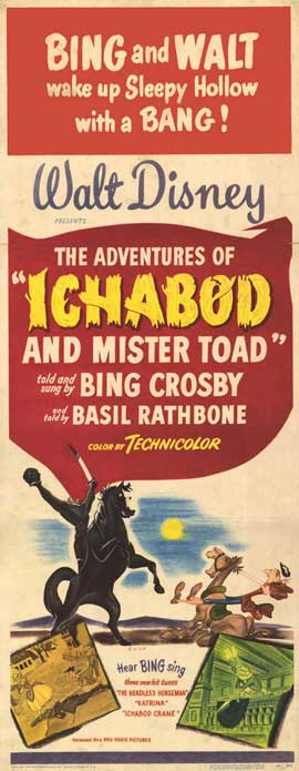 Ichabod and Mister Toad - 14 x 36 Movie Poster - Insert Style A