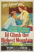 I'd Climb The Highest Mountain - 11 x 17 Movie Poster - Style A