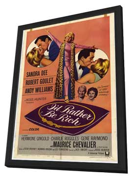 I'd Rather Be Rich - 11 x 17 Movie Poster - Style A - in Deluxe Wood Frame