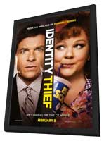 Identity Thief - 27 x 40 Movie Poster - Style A - in Deluxe Wood Frame