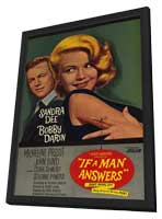 If a Man Answers - 11 x 17 Movie Poster - Style A - in Deluxe Wood Frame