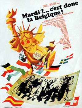 If It's Tuesday, This Must Be Belgium - 11 x 17 Movie Poster - French Style A