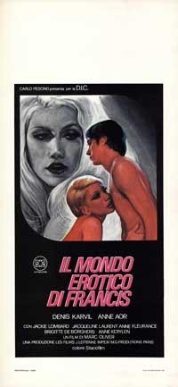 il mondo erotico di francis - 13 x 28 Movie Poster - Italian Style A