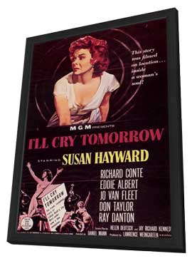 I'll Cry Tomorrow - 11 x 17 Movie Poster - Style A - in Deluxe Wood Frame