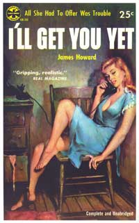 I'll Get You Yet - 11 x 17 Retro Book Cover Poster