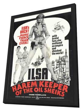 Ilsa, Harem Keeper of the Oil Sheiks - 27 x 40 Movie Poster - Style A - in Deluxe Wood Frame