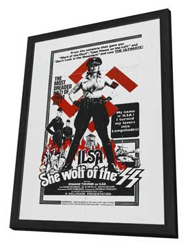 Ilsa, She Wolf of the SS - 11 x 17 Movie Poster - Style C - in Deluxe Wood Frame