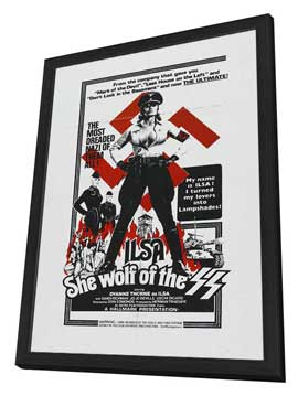 Ilsa, She Wolf of the SS - 27 x 40 Movie Poster - Style B - in Deluxe Wood Frame