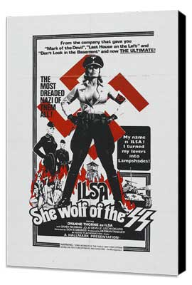 Ilsa, She Wolf of the SS - 11 x 17 Movie Poster - Style C - Museum Wrapped Canvas