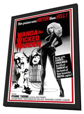 Ilsa, The Wicked Warden - 11 x 17 Movie Poster - Style A - in Deluxe Wood Frame