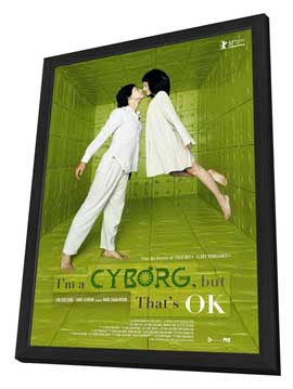 I'm a Cyborg, But That's OK - 27 x 40 Movie Poster - Style A - in Deluxe Wood Frame