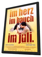 Im Juli. - 27 x 40 Movie Poster - German Style B - in Deluxe Wood Frame