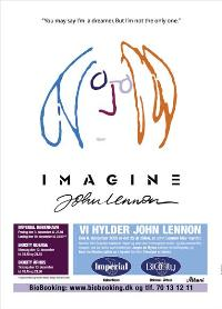Imagine John Lennon - 11 x 17 Movie Poster - Danish Style A