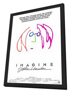 Imagine John Lennon - 11 x 17 Movie Poster - Style A - in Deluxe Wood Frame