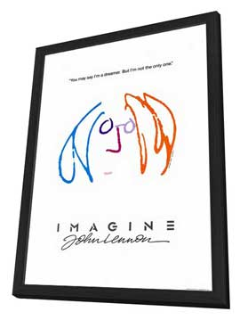 Imagine John Lennon - 11 x 17 Movie Poster - Style B - in Deluxe Wood Frame